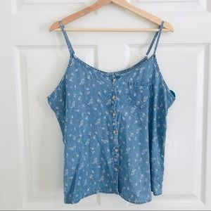 Maurice's | Blue Jean Floral Tank